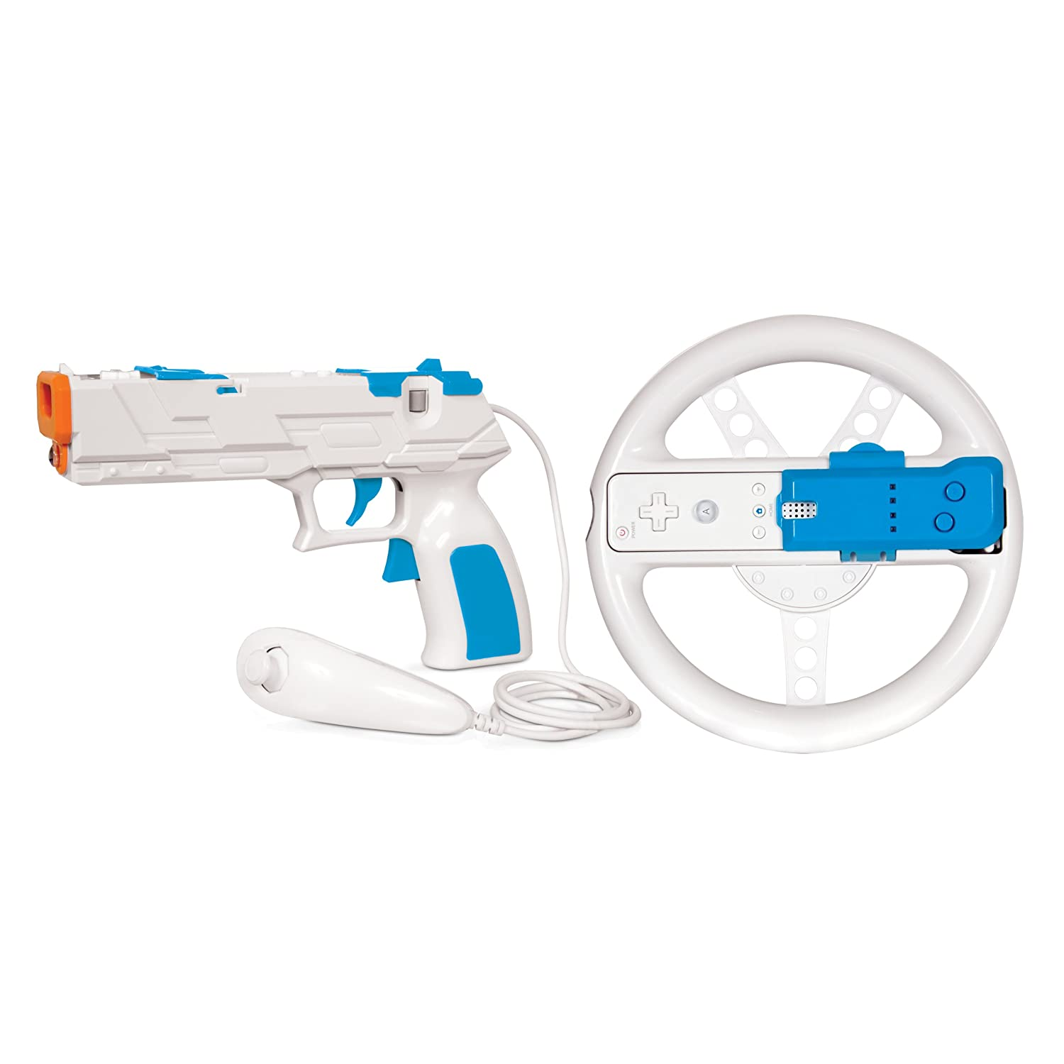 dreamGEAR Nintendo Wii Race and Shoot Bundle (white/blue)