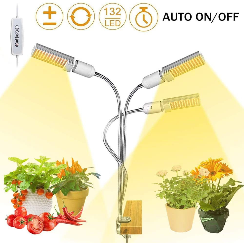 AKL Grow Light, Growing Lamps for Indoor Plants,5 Dimmable Levels Plant Grow Lights for Indoor Plants with Red Blue Spectrum, 3 6 12H Timer, 3 Switch Modes