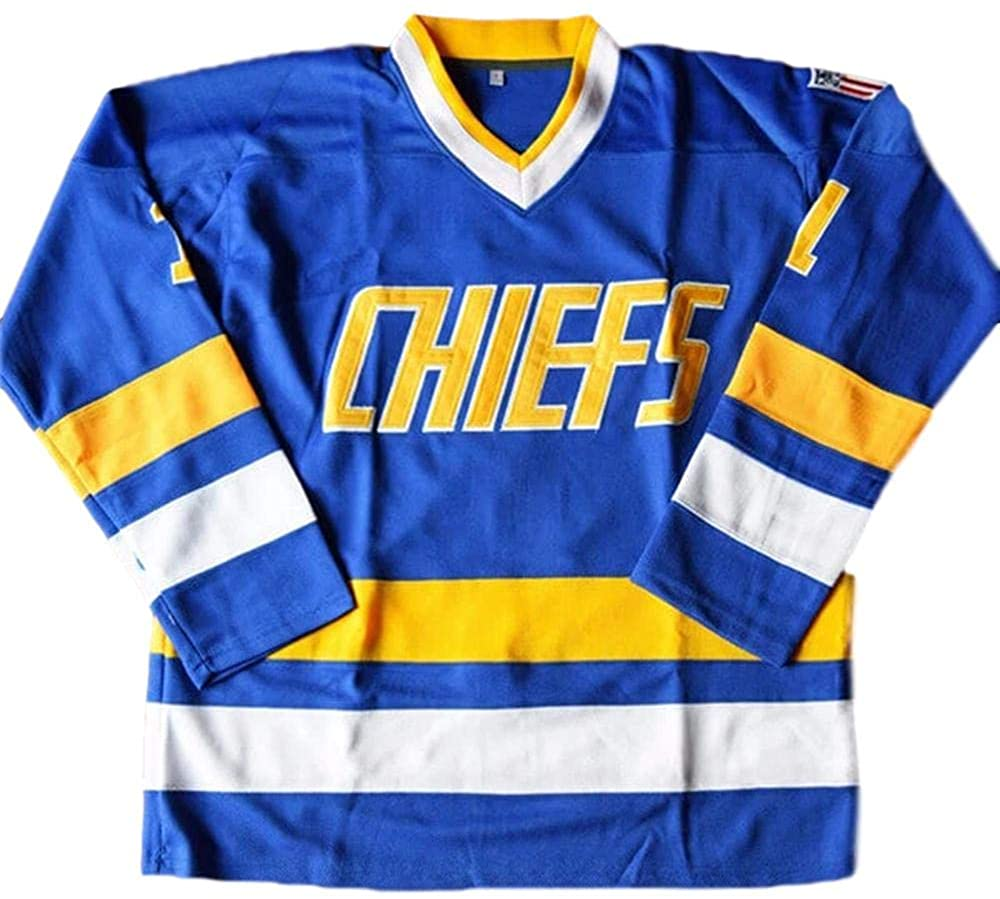 Denis Lemieux #1 Slap Shot Charlestown Chiefs Ice Hockey Jersey