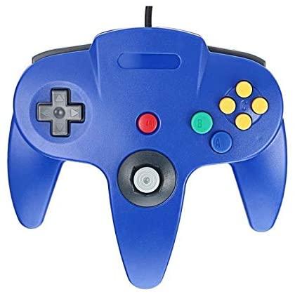 FidgetFidget Gamepad Dark Blue Gaming Handle Controller Remote Pad for Nintendo 64 N64 System