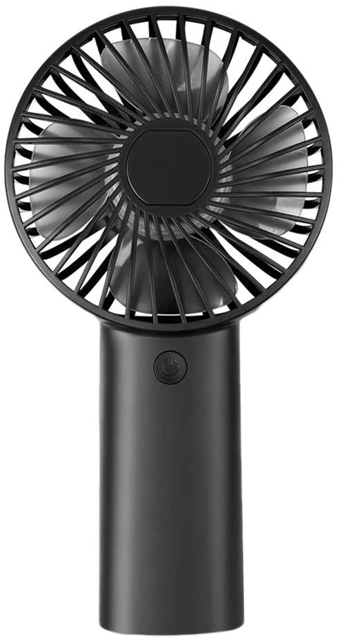 HTLLT Portable Fan Small Fan Rechargeable Office Desk Bed with USB Small Household Portable Large Wind Mute Fan Convenience,Black
