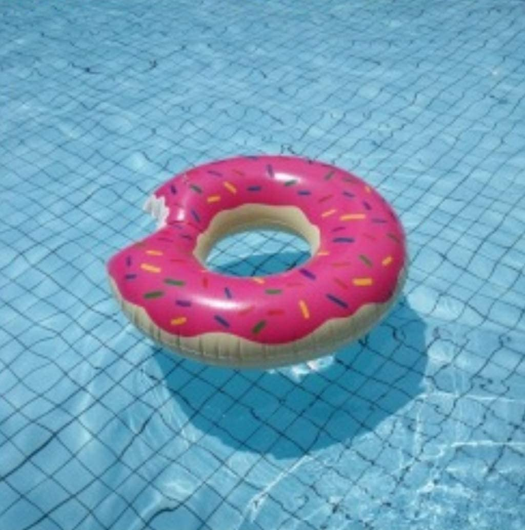 DONGYUA Strawberry Swimming Ring Doughnut Female Underarm Circle Inflatable Floating Ring Life Buoy Printing Environmental Protection PVC
