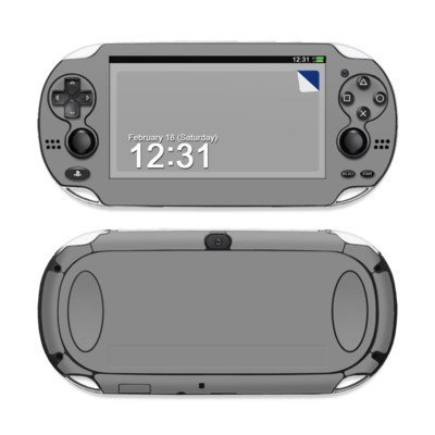 Solid State Grey Design Protective Decal Skin Sticker (High Gloss Coating) for Sony Playstation PS Vita Handheld