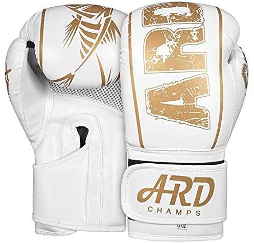 2Fit Xlite White Finish Gel Boxing Gloves for Men & Women Training MMA Muay Thai Premium Quality Gloves for Punching Heavy Bags Sparring Kickboxing Fighting Gloves