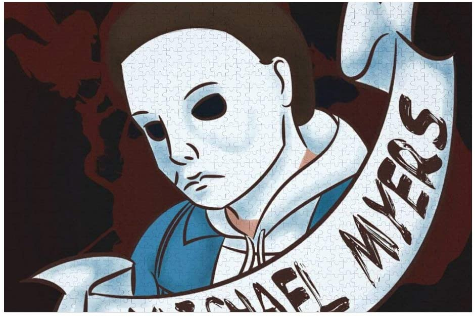 Michael Myers 3D Jigsaw Puzzle 1000 Pieces Wooden Puzzles for Adults Educational Toys
