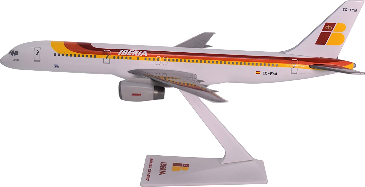 Flight Miniatures Iberia Boeing 757-200 Airplane Miniature Model Snap Fit 1:200 Part# ABO-75720H-031