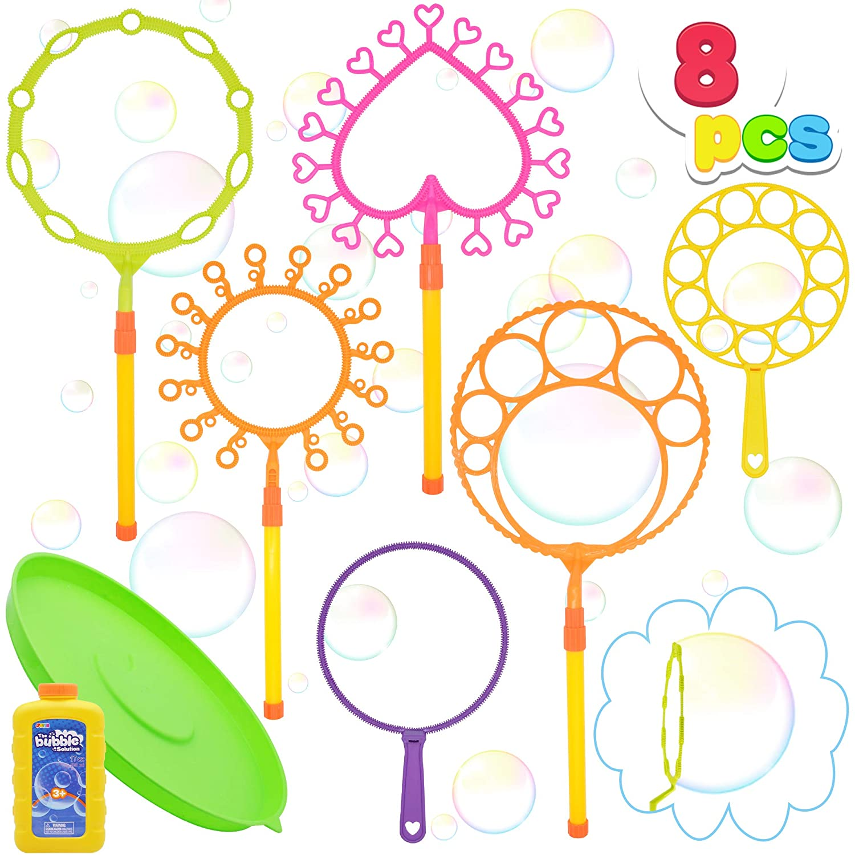 JOYIN Bubble Wand Set with 16oz Bubble Solution 10