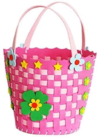Intelligence Toys Great Children DIY Handmade EVA Woven Basket Portable Flower Basket, Random Style Delivery