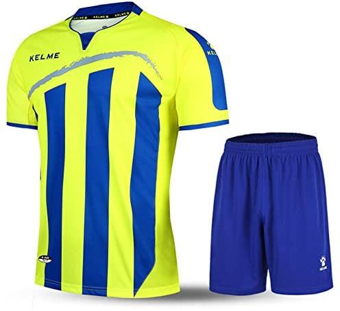 KELME Short-Sleeve Soccer Sports Striped Uniform