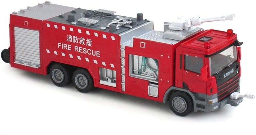 Ycco City Fire Burger Bar Rescue Truck Toy Play Set for Kids with Toy fire Truck Ladder Truck and Water car Figures Climbing Vehicle Fire Trucks for Kids 3 pcs Set ( Color : Jug )