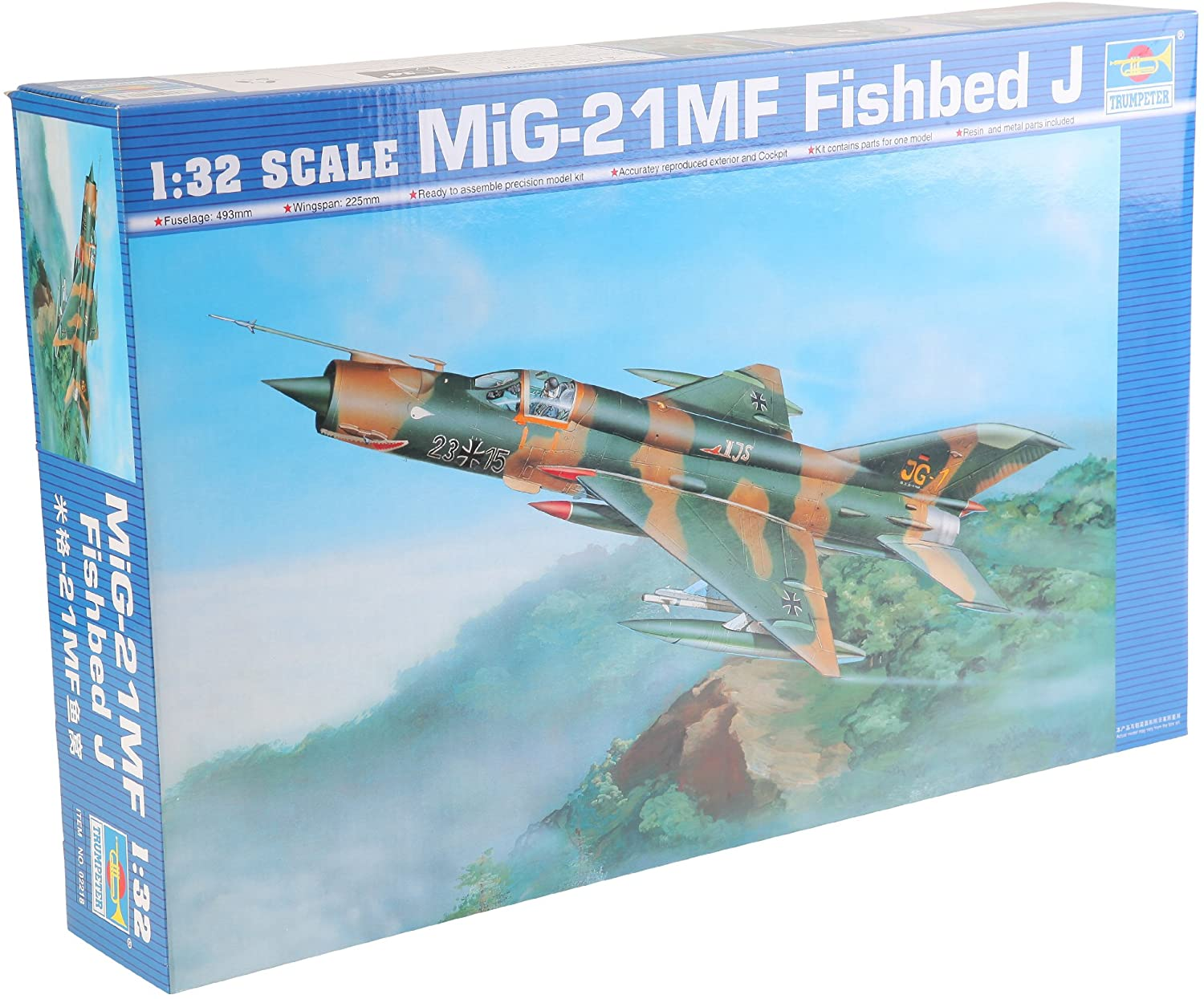 Trumpeter 1/32 Mig21 MF Fishbed J Single-Seat Tactical Fighter