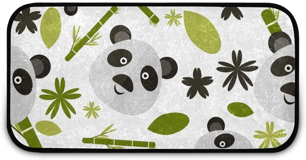 Rectangle Shaggy Rug Floor Mat for Kids Panda Entrance Way Indoor Anti-Slip Rug Rectangle Carpet Play Mat