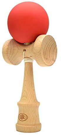 Yomega Pro Model Kendama – The Traditional Japanese Toss and Catch Skill Game with Rubberized Paint for Easier Skill Building Play. (Colors May Vary)