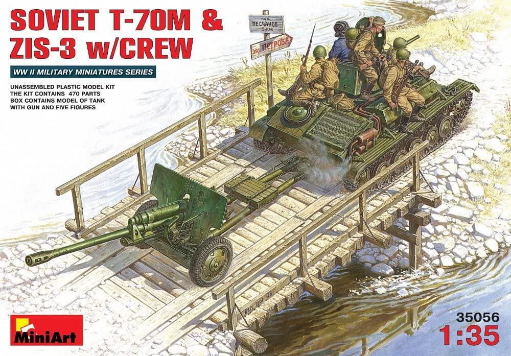 Miniart 1:35 - Soviet T-70m &zis-3 With Crew