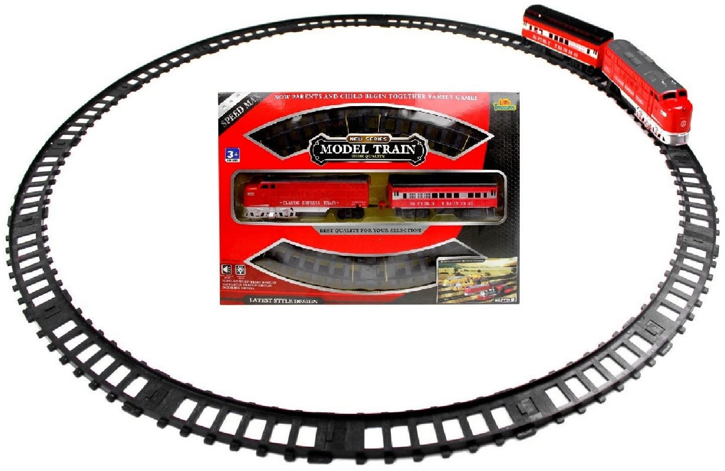 Little Treasures Classic Express Train Playset, Join The Speedy Journey