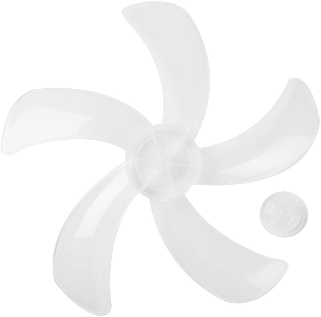 TiaoBug Household Plastic Fan Blade 5/7/9 Leaves Replacement with Nut Cover for 14/16 Inch Standing Pedestal Table Fanner General Accessories Type B2 One Size