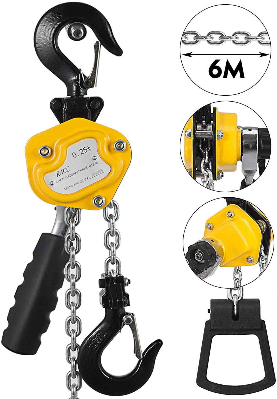Mophorn 1/4T Lever Block Chain Hoist 6M 20Ft Chain Hoist Alloy Steel G80 Chain Ratchet Lever Hoist with Hook