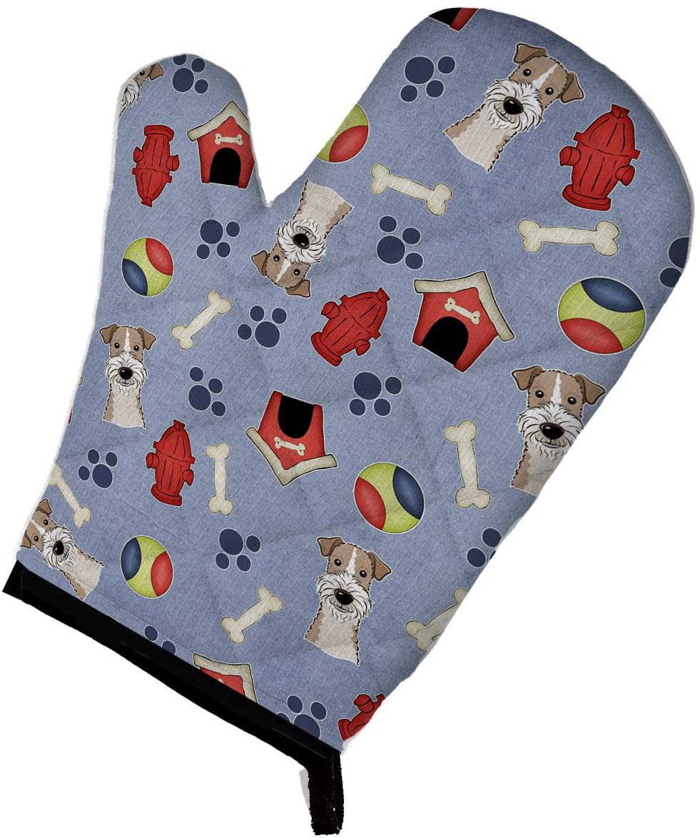 Caroline's Treasures BB4026OVMT Dog House Collection Wire Haired Fox Terrier Oven Mitt, Large, multicolor