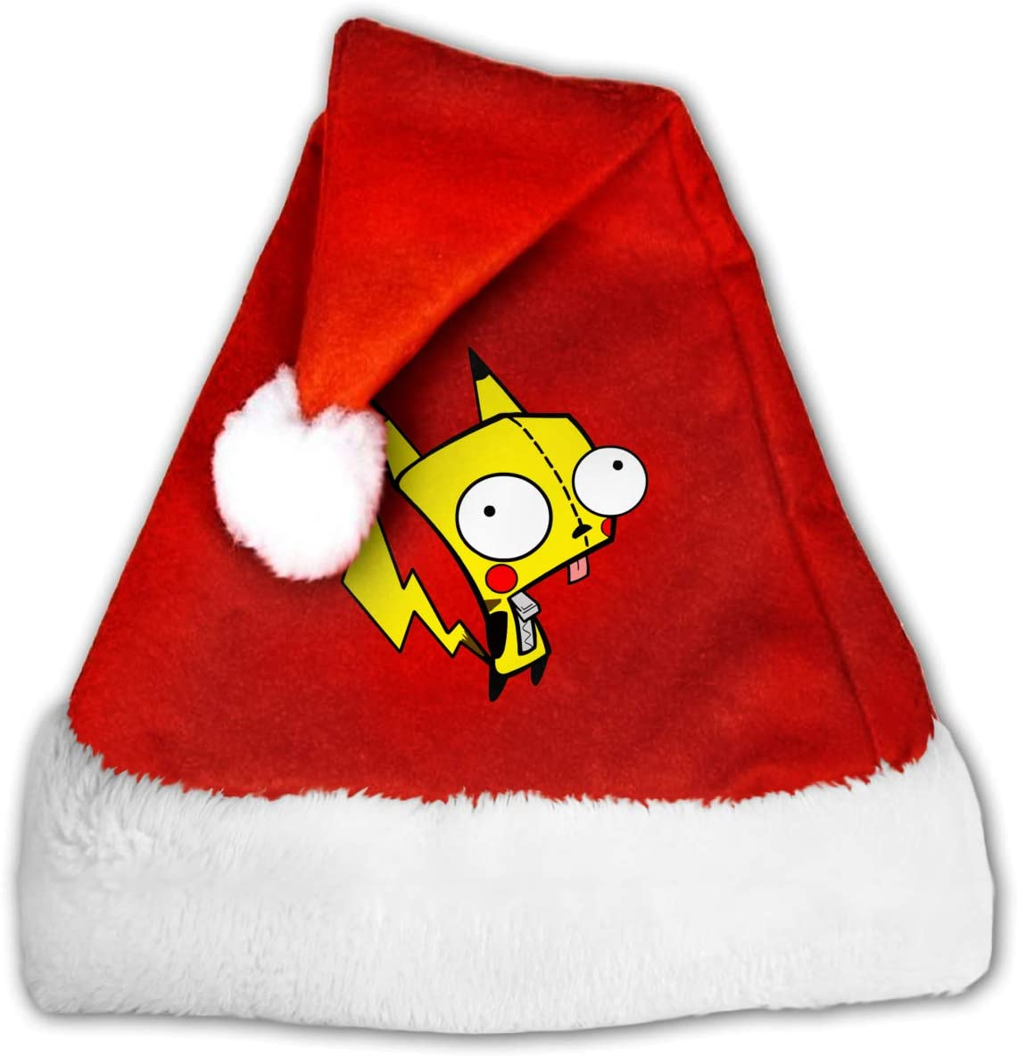 Adult Kid's Invader Zim Christmas Hats Red Plush Holiday Party Cap