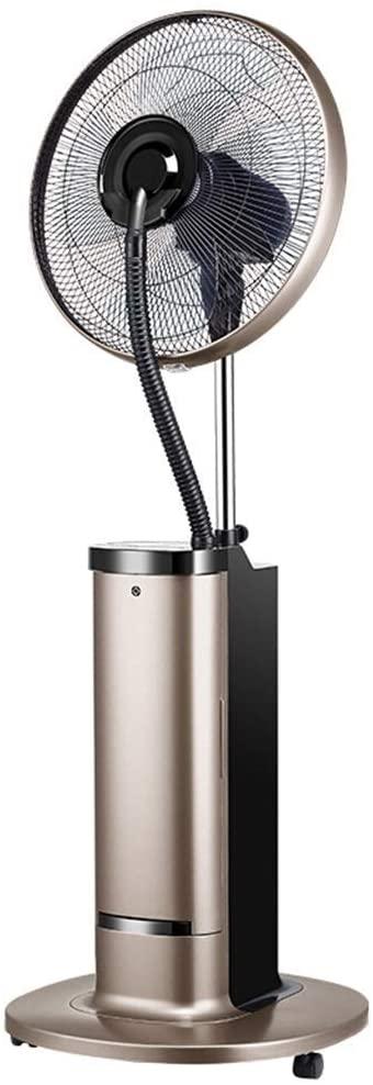 KMMK Home Electric Fan,Pedestal Fans Atomization Water Mist Fan Cooling Humidification Add Water Electric Fan Shaking Head Industrial Ideal for Outdoor Use