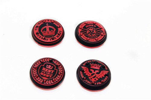 Thumbstick Grips for PS4 XBOX WII U Switch - Caps for all Controllers - Crown Red