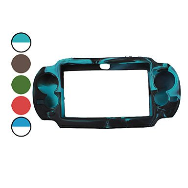 NingB Dual Color Protective Silicon Case for PS Vita (Assorted Color) , Gray
