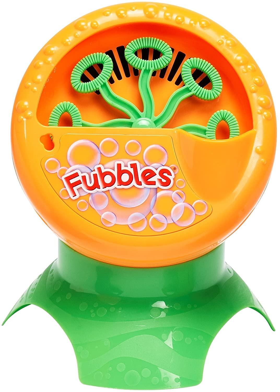 Little Kids Fubbles Bubble Blastin' Bigger Bubbles Kids Automatic Party Machine and Includes 4oz of Bubble Solution Toy, Orange