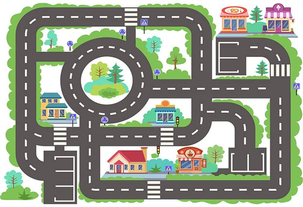 BBXW Kids Cartoon Area Rugs,Indoor Children Crawling Carpet,Anti Skid Printing Pattern Rug,for Nursery Bedroom Decor Mat