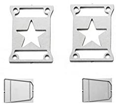 R/C Scale Accessories : Taillight Cover (Style A) for Axial SCX10 III Jeep Jl Wrangler AXI03007-4Pc Set Silver
