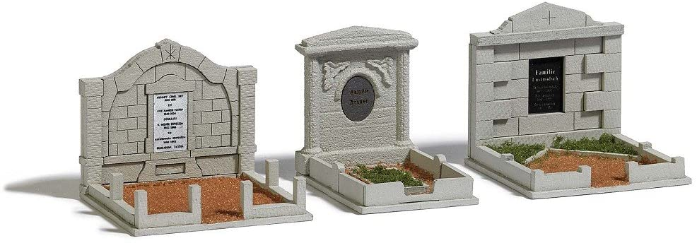 Busch 1092 3 Family Graves HO Scale Scenery Kit