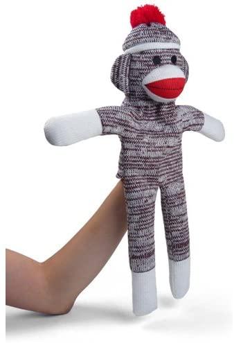Plushland Sock Monkey Hand Puppet