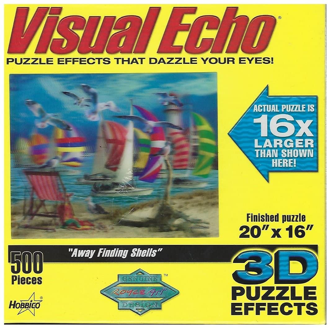 Visual Echo 3D Effect Away Finding Shells Puzzle 500pc by Hobbico