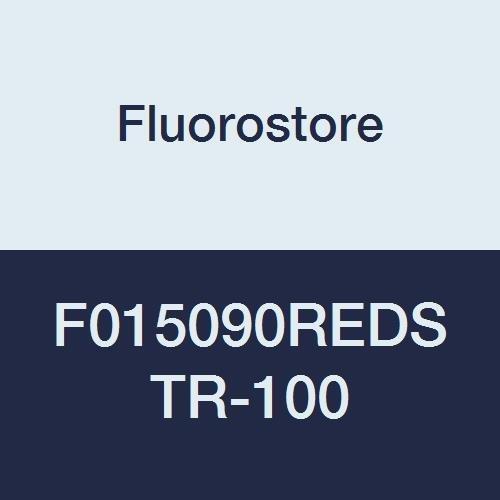 Fluorostore F015090REDSTR-100 PTFE Striped Tubing, 1/8 mm ID x 4 mm OD, 100 Length, Red