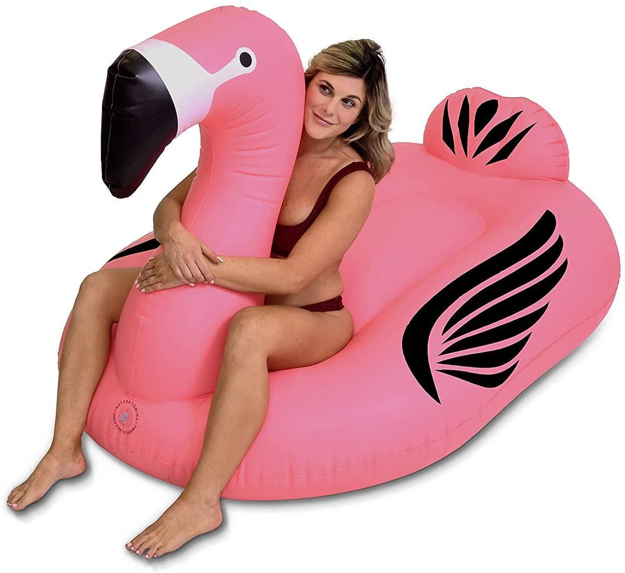 GoFloats Giant Inflatable Pool Lake Water Float Raft Flamingo (Flamingo)