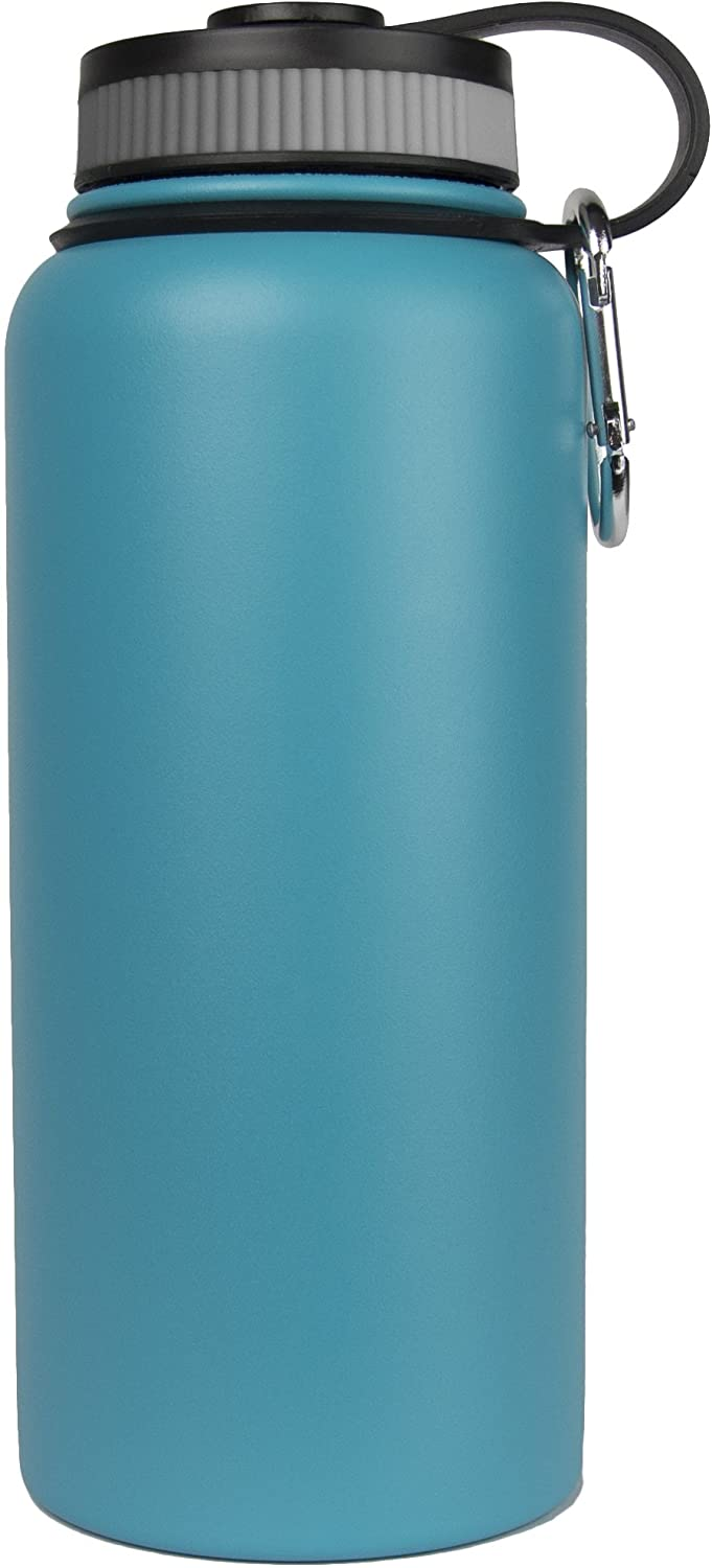 Sarge Knives Sarge WB-32T 32-ounce Stainless Steel Teal Wave Bottle