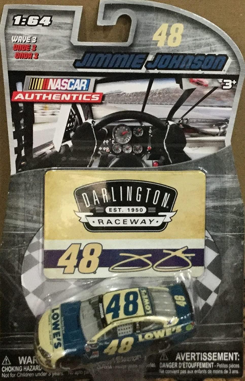 NASCAR Authentics 2015 Darlington Retro Paint Scheme 48 Jimmie Johnson Lowes 1/64 1:64 Scale DIECAST Race CAR with Collector Card