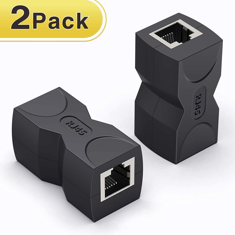 RJ45 Coupler/Ethernet Coupler,Wenter 2 Pack in Line Coupler Cat7 Cat6 Cat5e Ethernet Cable Extender Adapter Female to Female
