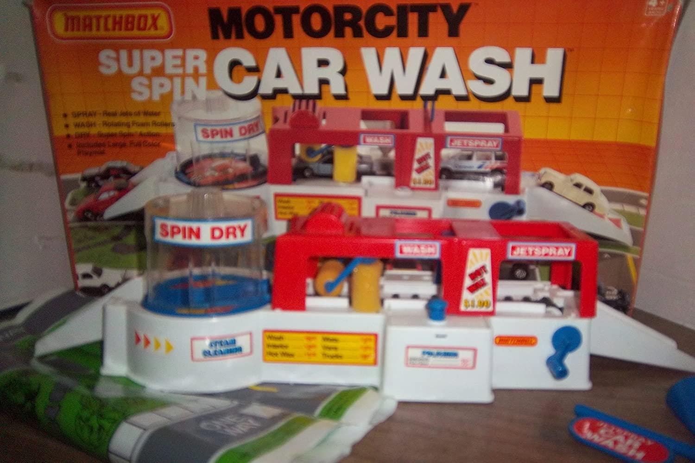 Matchbox Motorcity Car Wash RARE playset