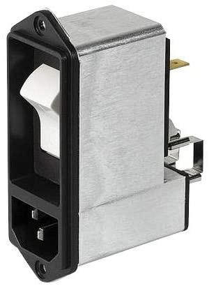 AC Power Entry Modules 15 A 1 POLE PROT SCREW MOUNT W/FILTER
