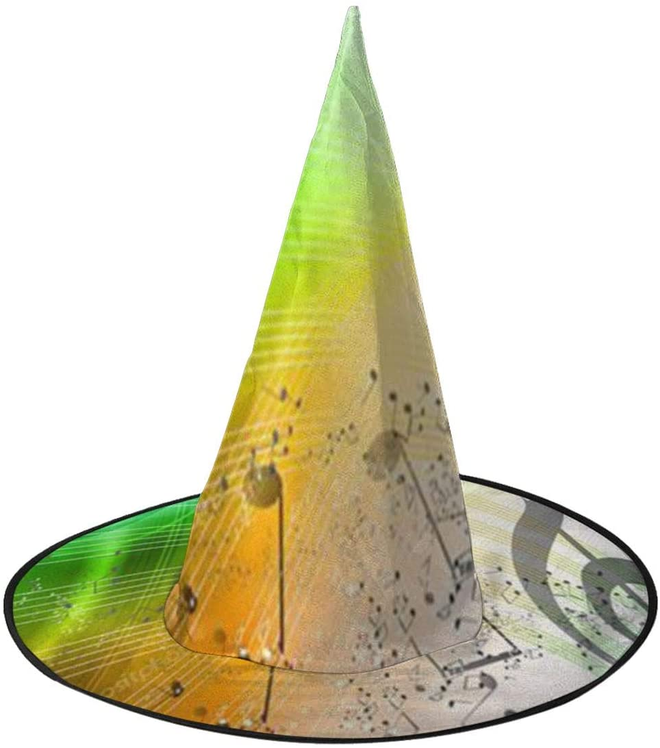 Halloween Witch Hat,Rainbow Music Accessory Costumes for Halloween Party