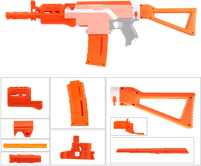 JGCWorker Mod Kit for Nerf Stryfe Blaster, AK Model Modification Toy for Outdoor Play