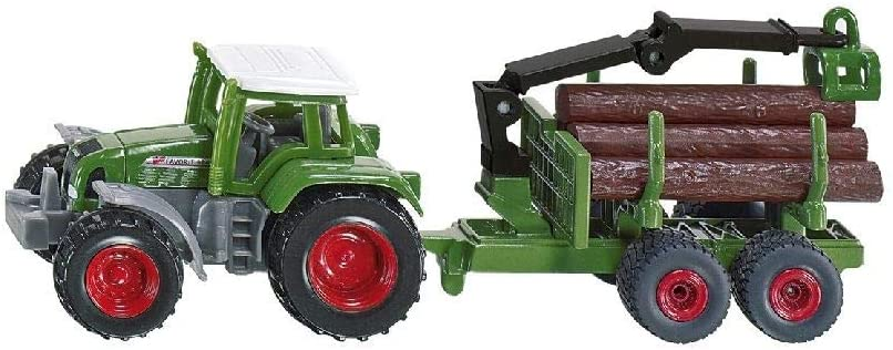 Siku: Tractor with forestry trailer