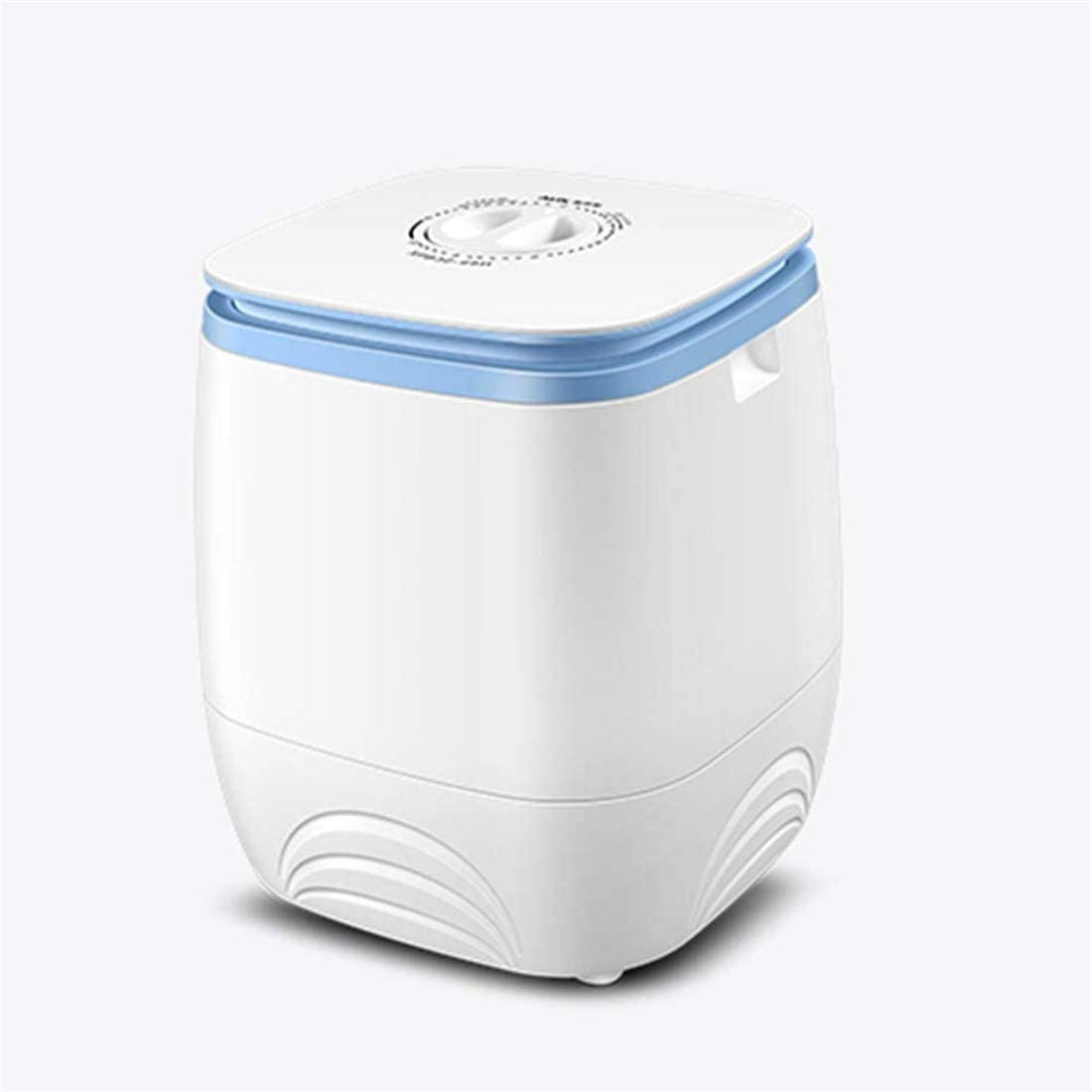 Wenore Portable Single Barrel Washing Machine Semi-Automatic Mini Washing Device Large Capacity Suitable for Baby Clothes to Be Cleaned Separately Apartment Travel Dormitories,White