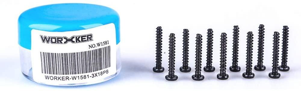 WORKER 10PCS PB 3x18mm Spare Screws Accessories for Nerf N-Strike Elite Toy