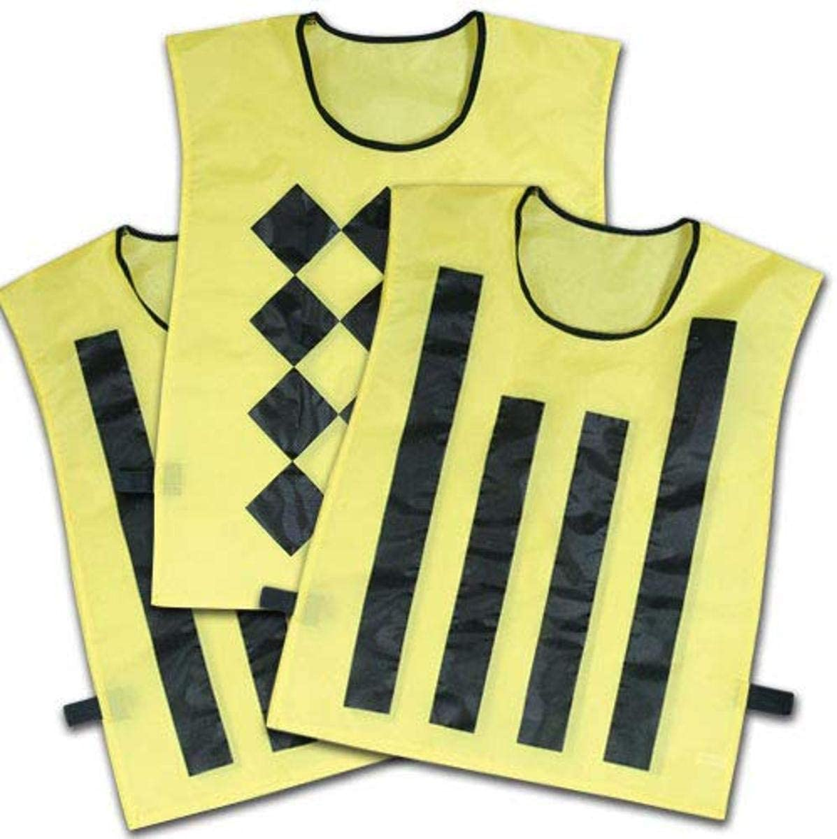 CHAMPRO Sideline Official Pinnies (Set of 3, 1 Diamond/2 Striped)