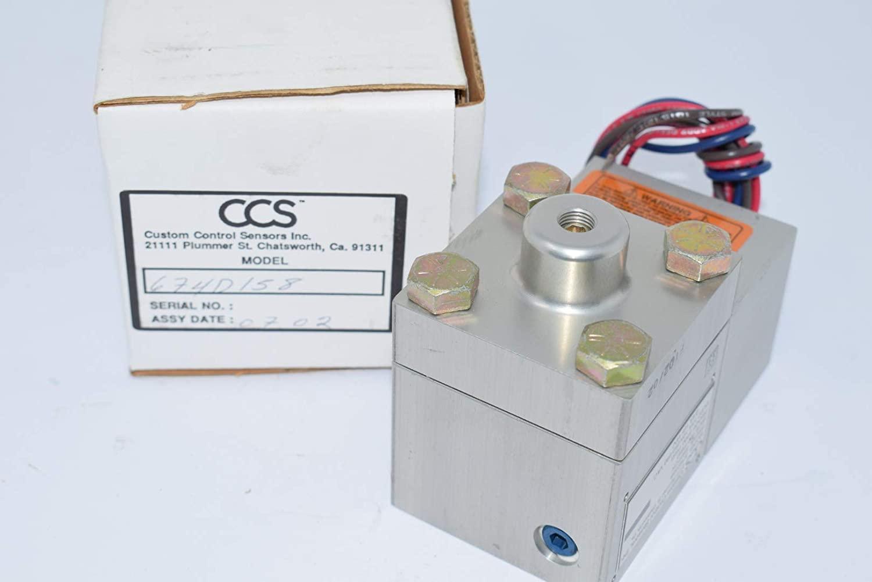 CCS 674D158 Dual-SNAP Pressure Switch 125/250/480V-AC