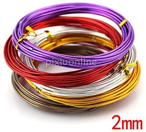 Ochoos 1lot J200 8 Colors Aluminum Wire Diameter 2mm Thicken Color Coating Metal Wires DIY Handicraft Making Russia