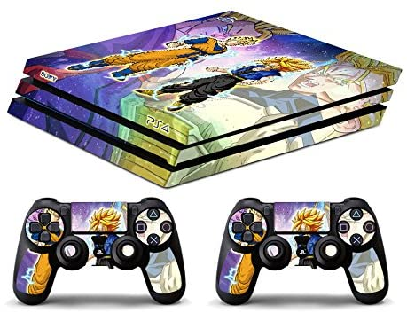 Skin Ps4 PRO - DRAGONBALL GOHAN TRUNKS - limited edition DECAL COVER ADESIVA Playstation 4 Slim SONY BUNDLE