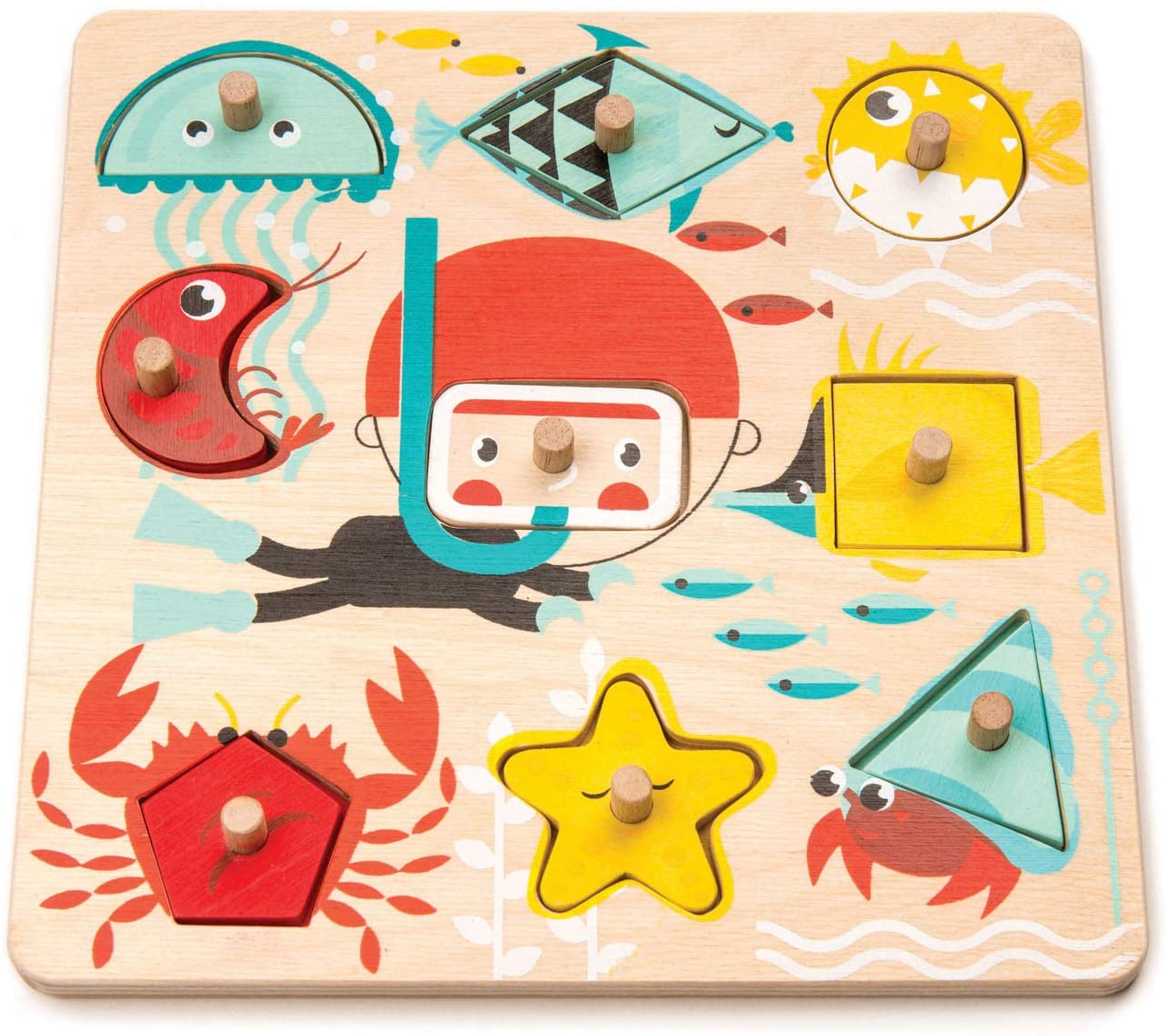 Underwater Shapes Wooden Puzzle