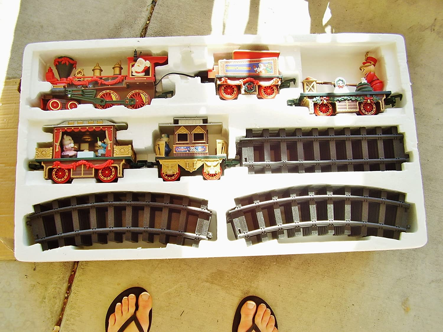 Vintage Christmas Magic Express Train -Hand Painted FIRST EDITION 1996 Collectible -